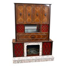 Mid Century Modern Electric Fireplace by Online Furniture Auctions Vintage Furniture Auction Antique