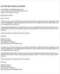 Rejection Letter Recruitment Agency 40 offer letter exles