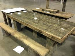 Wooden Picnic Tables With Separate Benches Wood Picnic Table Kit Lowes Ideas With Detached Benches 31049