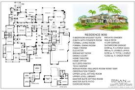 8000 Sq Ft House Plans Floor Plans 7 501 Sq Ft To 10 000 Sq Ft