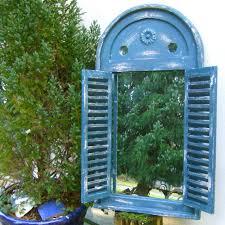 Bad Blau Fenster Als Spiegel Wandspiegel Fürs Bad