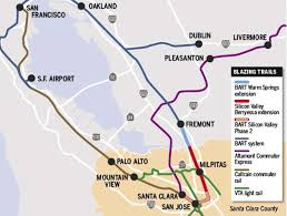 Bart Stations Map by Bart To Silicon Valley Receives Boost With Funding