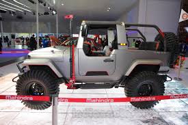 indian jeep mahindra mahindra thar custom side at auto expo 2016 indian autos blog