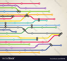 Metro Line Map by Metro Route Map Royalty Free Vector Image Vectorstock