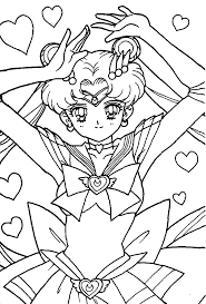 sailor moon outline coloring pages funny coloring