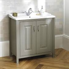 Traditional Bathroom Vanity Units by Old London 800mm Stone Grey Traditional Freestanding Vanity Unit