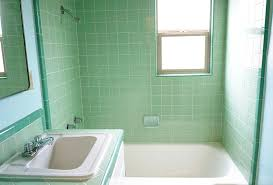 green and white bathroom ideas s green b w tile bathroom remodel in progress retro renovation