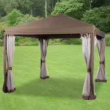 Patio Gazebos And Canopies by Replacement Canopy And Net For Abba 10x10 Gazebo Riplock Garden