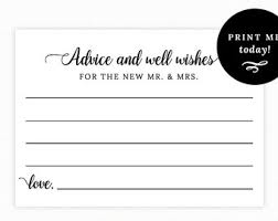 wedding wishes and advice cards wish cards etsy