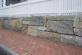 reclaimed granite blocks retaining wall stones stone benches