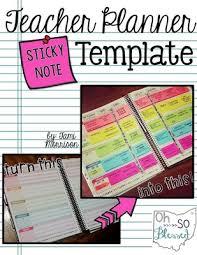 erin condren teacher planner template with post its