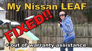 nissan leaf level 1 charger nissan leaf update charger replaced car is fixed youtube