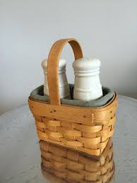 best longaberger salt and pepper basket with shakers liner and