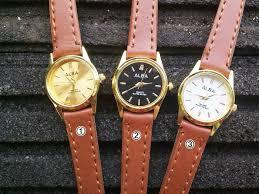 Jam Tangan Alba Jogja galeri produk jam tangan alba kecil tali coklat superclock jogja