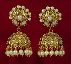 gold jhumka earrings design indian style gold jhumka earrings design for women ksvhs jewellery
