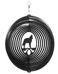 belgian sheepdog dog swen products belgian sheepdog dog circle swirly metal wind