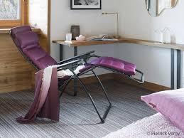siege pliant lafuma chaise longue pliante multiposition en acier et toile air comfort