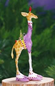 patience brewster george and janet giraffe ornaments set of 2