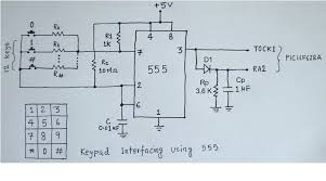 2 wire keypad interface using a 555 timer embedded lab
