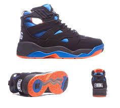 mens basketball shoes ewing image trainer black blue