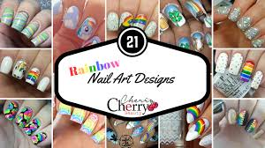 21 rainbow nail art designs cherrycherrybeauty