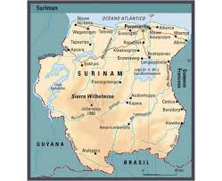 Sur America Map by Maps Of Suriname Detailed Map Of Suriname In English Tourist