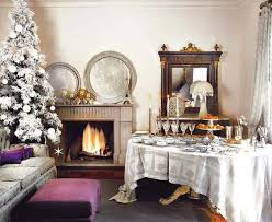 decorations white christmas interior decoration with snow effect