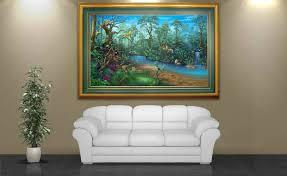 rainforest painting wall art by artist david miller