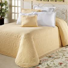 Gold Quilted Bedspread Bedroom Matelasse Coverlet Twin Bed Coverlets Quilted Bedding