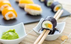 cuisine trompe l oeil sushis sucrés en trompe l œil makis exotiques mangue