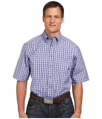 Big And Tall For Mens Clothes Ariat Big U0026 Tall Thurman Performance Short Sleeve Shirt In Blue