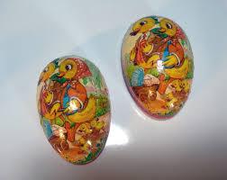 vintage paper mache easter eggs 66 best vintage easter images on papier mache paper