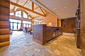 log cabin floors ranch log home traditional kitchen vancouver by sitka log homes