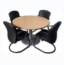 used round office table used senator 1200mm round beech meeting table with 4 used giroflex
