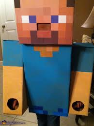 Minecraft Halloween Costumes Steve Minecraft Costume Homemade Costumes Minecraft