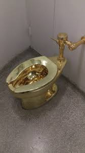 the guggenheim in nyc has a golden toilet you can use because art