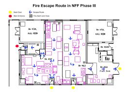 evacuation and emergency escape route nanosystem fabrication