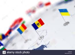 Europe Map Countries by Moldova Flag In The Focus Europe Map With Countries Flags