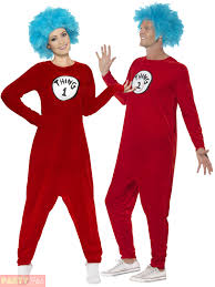 thing 1 or thing 2 costume mens ladies dr seuss fancy dress