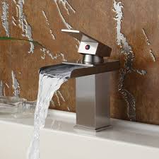 bathroom modern bathroom faucets waterfall faucets