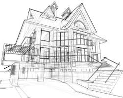 architectural house house technical draw stock photo landscape architecture