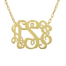 gold monogram necklace sale personalize gold monogram necklace 1 25 any initial monogram