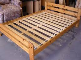 ikea double bed ikea solid pine wooden double bed frames good condition in