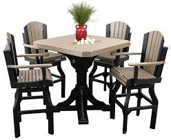 ohio tables and chairs luxcraft poly square table set with swivel chairs swingsets