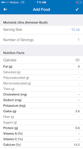 how many calories in michelob ultra light beer macros in your favorite alcohol katiesfitscript