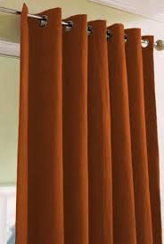 Rust Color Curtains Interesting Burnt Orange Kitchen Curtains Designs With Curtains