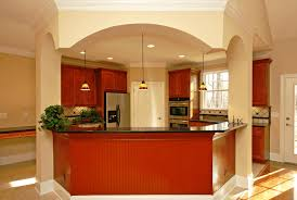 kitchen island ideas small space yellow arched bench seat cherry