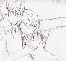pictures cute anime couple sketches drawing art gallery