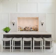 upholstered bar stools kitchen eclectic with cantilever concrete