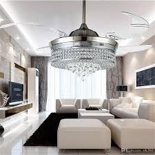 Lampen F Schlafzimmer Modern Großhandel Unsichtbare Led Kristall Deckenventilatoren Lichter